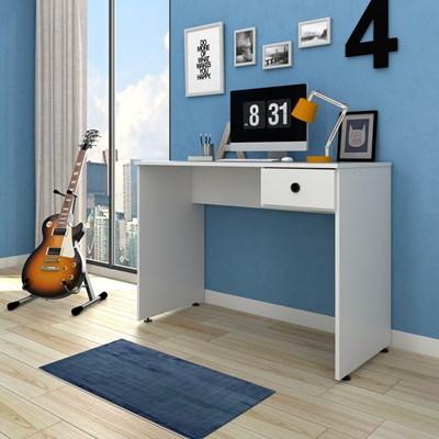 Mesa para Computador Notebook Escrivaninha 101cm Dubai L03 Branco - Mpozenato