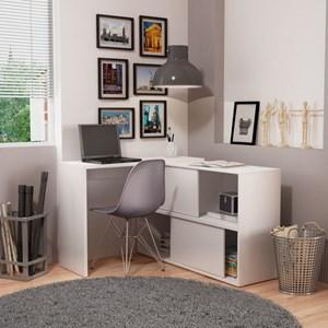 Mesa para Computador Notebook Escrivaninha BC44 2 Portas Branco - BRV