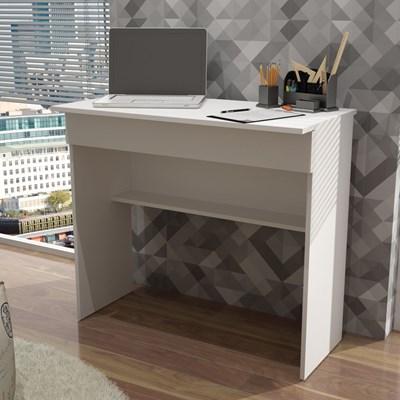 Mesa para Computador Notebook Escrivaninha BHO21 1 Gaveta Branco - BRV