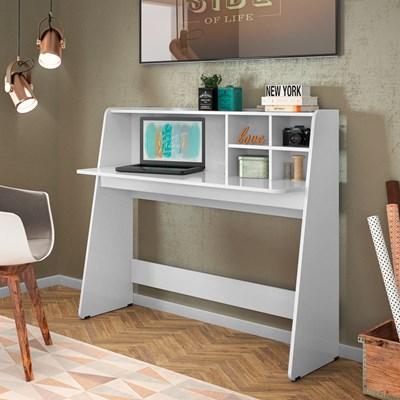 Mesa para Computador Notebook Escrivaninha Idealle C05 Branco - Mpozenato