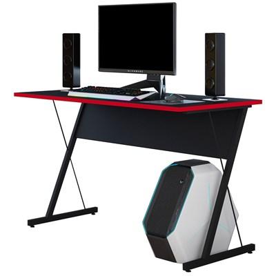 Mesa Para Computador Notebook Gamer 120cm Sigma Z F02 Preto/Vermelho - Mpozenato