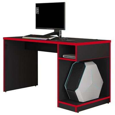 Mesa Para Computador Notebook Gamer 136cm Player F02 Preto/Vermelho - Mpozenato