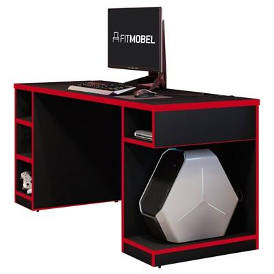 Mesa Para Computador Notebook Gamer 136cm Player Pro F02 Preto/Vermelho - Mpozenato