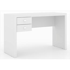 Mesa para Escritório 02 Gavetas ME4123 Branco - Tecno Mobili