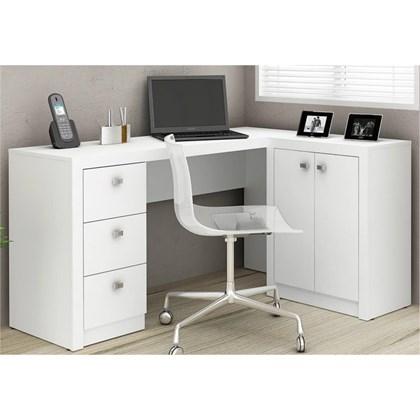 Mesa Para Escritório 2 Portas 3 Gavetas ME4100 Branco - Tecno Mobili