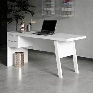 Mesa para Escritório com 02 Gavetas ME4122 Branco - Tecno Mobili