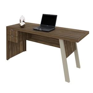 Mesa para Escritório com 02 Gavetas ME4122 Nogal - Tecno Mobili