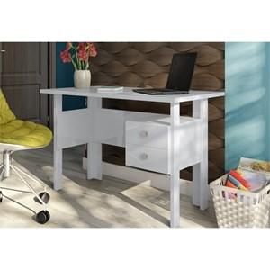 Mesa para Escritório com Gavetas C216 Branco Brilho - Dalla Costa
