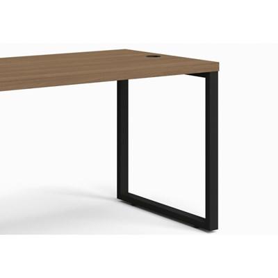 Mesa para Escritório Secretária Frame 120 cm Carvalho Munique - Kappesberg