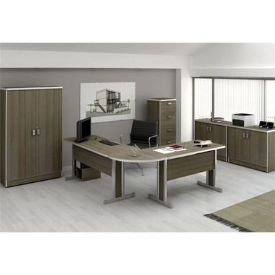Mesa para Escritório Secretária Versátil 100 cm Teca Itália - Kappesberg