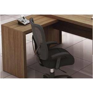 Mesa para Home Office com 03 Gavetas Carvalho -Tecno Mobili