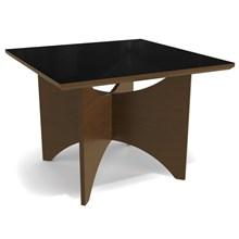 Mesa para Sala de Jantar 105cm Camomila Walnut/Carvão - Kappesberg