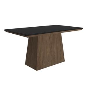 Mesa para Sala de Jantar 160 cm Melissa Castanho/Preto - New Ceval
