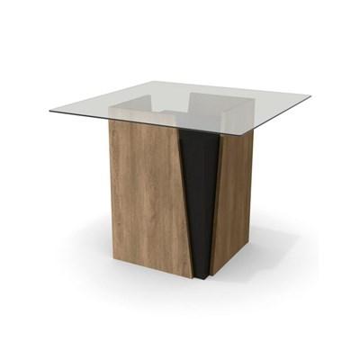 Mesa para Sala de Jantar 90cm Canela Nogal/Preto - Kappesberg