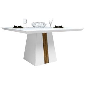 Mesa para Sala de Jantar Itália 140cm Demolição/Branco - Dj Móveis