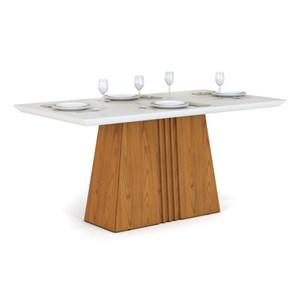 Mesa para Sala de Jantar Itália 170cm Carvalho/Off White - DJ Móveis