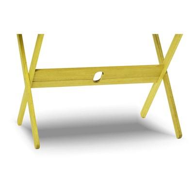 Mesa Retangular Dobrável Acqualung Stain Amarelo - Mão & Formão