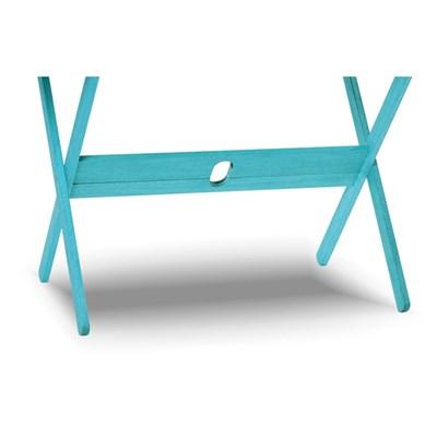 Mesa Retangular Dobrável Acqualung Stain Azul - Mão & Formão