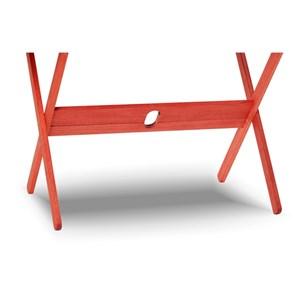 Mesa Retangular Dobrável Acqualung Stain Vermelho - Mão & Formão