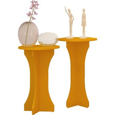 Mesas de Apoio Luck Amarelo - Artely