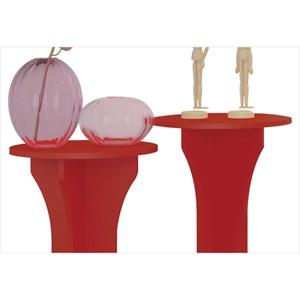 Mesas de Apoio Luck Vermelho - Artely