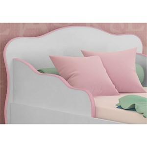 Mini Cama Infantil Doce Sonho Branco/Rosa - Qmovi