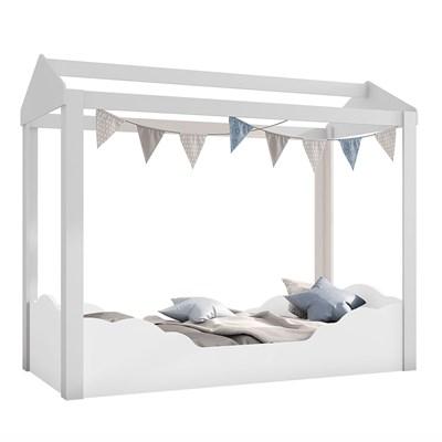 Mini Cama Infantil Montessoriana Clouds P13 Branco - Mpozenato