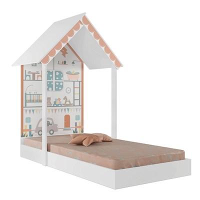 Mini Cama Infantil Montessoriana Sweetheart P13 Branco - Mpozenato