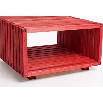 Módulo Dominoes com 45 x 22,5 Stain Vermelho - Mão & Formão