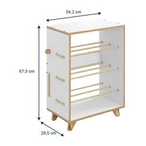 Multiuso Sapateira Cordel 1006 3 Prateleiras Branco - BE Mobiliário