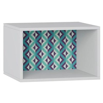 Nicho de Parede Decorativo Retrô 1002 Branco/Azul - BE Mobiliário