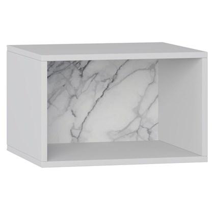 Nicho de Parede Decorativo Retrô 1002 Branco/Carrara - BE Mobiliário