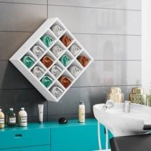 Nicho de Parede Porta Toalha Para Salão Barbearia 16 Divisões Branco - AJL Móveis