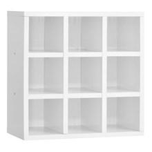 Nicho de Parede Porta Toalha Para Salão Barbearia 9 Divisões Branco - AJL Móveis