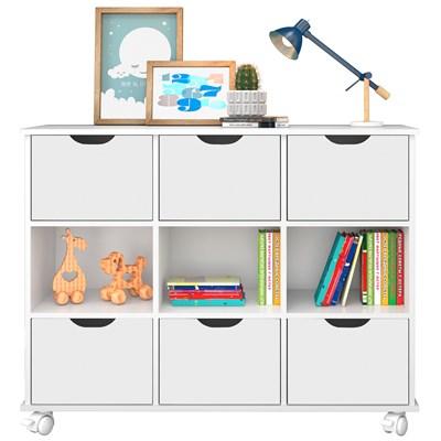 Nicho Organizador com Rodízios Toys 6 Gavetas Branco - Mpozenato