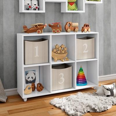 Nicho Organizador Infantil Multiuso Aquarela Branco HP - Henn