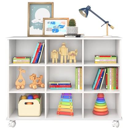 Nicho Organizador Multifuncional com Rodízios Toys Q01 Branco - Mpozenato
