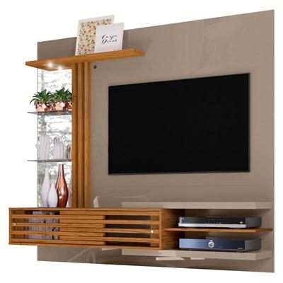 Painel Bancada Suspensa Para TV 55 Pol. Frizz Supreme Fendi/Naturale - Madetec