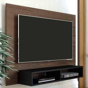 Painel Bancada Suspensa para TV até 42 Pol. Flash Amêndoa/Preto - Artely