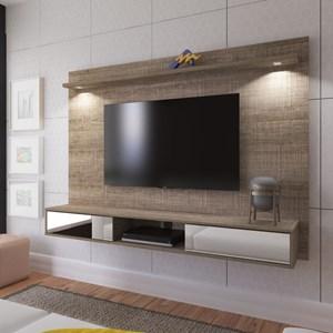 Painel Bancada Suspensa para TV até 47 Pol. Platinum Canela - Artely