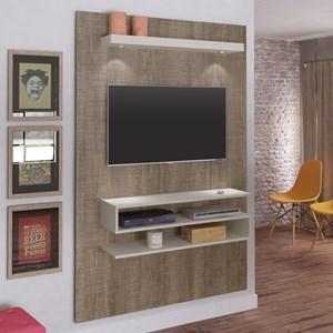 Painel Bancada Suspensa para TV até 47 Polegadas Nexus Canela/Off White - Artely