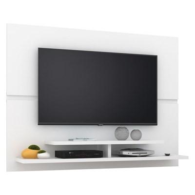 Painel Bancada Suspensa Para TV até 50 Pol. Mônaco New Branco - Lukaliam Móveis