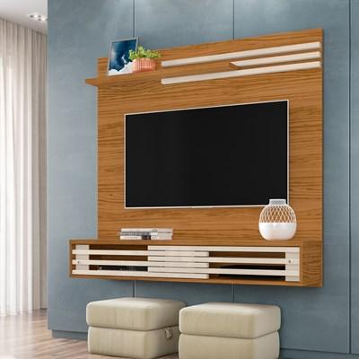 Painel Bancada Suspensa Para TV Até 55 Pol. Frizz Sublime Naturale/Off White - Madetec
