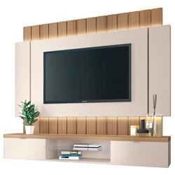 Painel Bancada Suspensa TV até 55 Pol. Illuna H01 Off White/Freijó - M