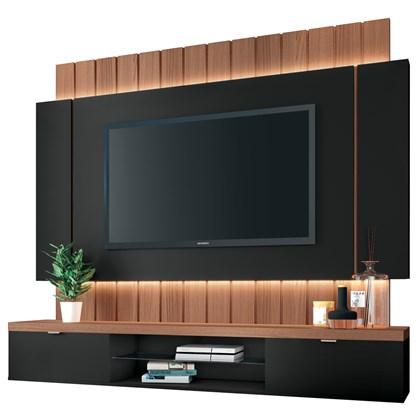 Painel Bancada Suspensa para TV até 55 Pol. Illuna H01 Preto/Nature - Mpozenato