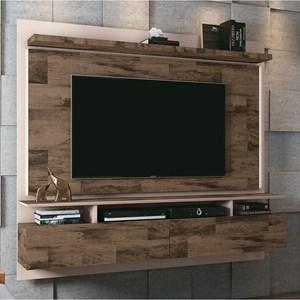 Painel Bancada Suspensa Para TV até 55 Pol. Limit 1.8 Deck/Off White - HB Móveis