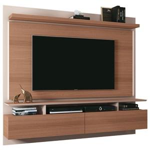 Painel Bancada Suspensa Para TV até 55 Pol. Limit 1.8 Nature/Off White - HB Móveis