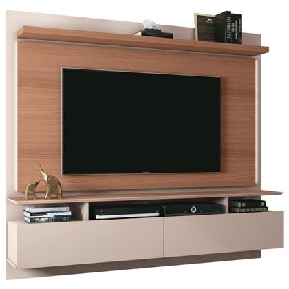 Painel Bancada Suspensa Para TV até 55 Pol. Limit 1.8 Off White/Nature - HB Móveis