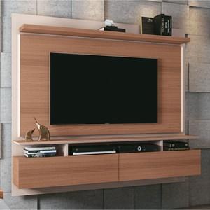Painel Bancada Suspensa Para TV até 55 Pol. Limit 2.2 Nature/Off White - HB Móveis