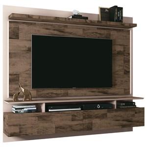 Painel Bancada Suspensa Para TV até 55 Pol. Limit Deck/Off White - HB Móveis
